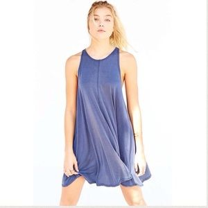 URBAN OUTFITTERS••racerback navy swing dress